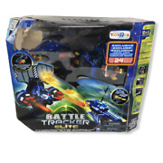 Rage Blue Air Hogs Battle Tracker Elite Rc Shoot Helicopter Robot Drone