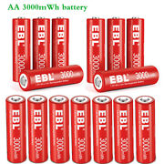 4-20 Pack Ebl 3000mwh Aa 1200mwh Aaa Rechargeable Li-ion Battery 1.5v Lot