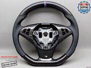 Bmw E60 M5 E63 M6 550i 3m Ring Perforate Flat Bottom Thick Carbon Steering Wheel