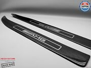 Mercedes W197 Sls Roadster Only Carbon Door Sills Inner Section Silver Amg Logo