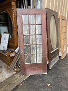 Cm744 Antique Oak Beveled Glass Entry Door French 33 5/8 By 79.5 X 1.75