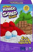 Kinetic Sand Scents 32oz 4 Pack Of Cherry Apple Chocolate And Vanilla Scented