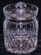 Waterford Colleen Pattern Crystal Biscuit Barrel Jar With Lid 6 3/4 Tall New