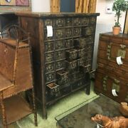 Antique Chinese 44 Drawer Apothecary Cabinet 58x43x25