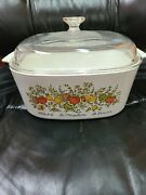 Spice Of Life 5.3 Quarts 5 Liter Dutch Oven Casserol Corning Ware Dome Lid Pyrex