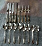 Laurier By Northumbria Sterling Silver Flatware For 4 - 16 Pc. Not Scrap 657 Gr