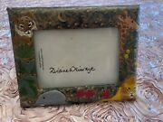 Vintage Helene Batoff Interiors Anilmal Embossed Leather Faux Picture Frame