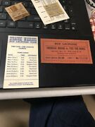 Onondaga Indians And Warriors Box Lacrosse 1969 1980 Schedule Ticket Syracuse Ny