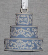 Wedgwood Jasperware Blue 2015 Our First Christmas Together Ornament New In Box