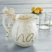 Mud Pie E1 Home Happy Everything 9 X 11 Pitcher And Spoon 2pc Set 45500029