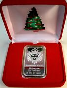 New-gift 1 Troy Oz-scottsdale Mint 999 Fn Silver And039lion Headand039 Bar-at Hldr+case