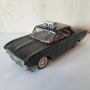 Vintage Tin Toy Chevrolet Impala Taxi Friction Powered With Snap Out Sign Korea