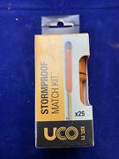 Uco Stormproof Match Kit Waterproof Case 25 Stormproof Matches And 3 Strikers