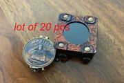 Antique Vintage Boy Scouts Embossed Solid Brass Pocket Compass With Leather Case