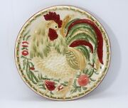 Royal Doulton Chanticlair Rooster Sculpted Plate Farmhouse Chicken Replacement