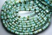Peruvian Peru Opal Shaded Faceted Rondelles Loose Gemstone Beads For Jewelry