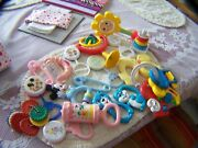Vintage Baby Rattles Toys Teething Your Choice