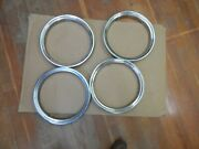 Oem Old Style Chevrolet 15andrdquo X 1 1/2 Stainless Trim Rings Set Of 4