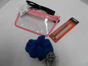 Lot Of 3 - Revlon Emery Boards Conair Hair Scrunchie Clear Pink Fanny Pack New