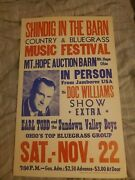 Doc Williams Country Bluegrass Cardboard Boxing Style Concert Poster