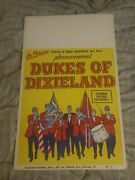 The Dukes Of Dixieland Country Bluegrass Cardboard Boxing Style Concert Poster