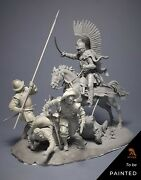 Polish Winged Hussar Chases Pikemen Painted Toy Figure Miniature Pre-sale   Art