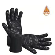 Heat Resistant Gloves Silicone Durable Fireproof Cooking Baking Grill Oven Mitts