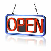 Led Neon Open Sign、21×10inch、 Flashing And Steady Light、ultra-long Power Cord F...