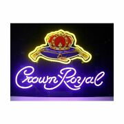 Crown Royal Neon Light Signs Home Beer Bar Pub Recreation Room Game Lights Wi...