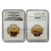 France 2015 The Sower 100 Euro Gold Ngc Pf70 Ultra Cameo Sku7068