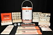 Rare Lot Magcobar Dresser Oil Gas Ice Bucket, Patch, Golf Balls, Cards And More