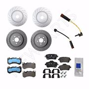 For Mercedes X166 C292 Genuine Front And Rear Disc Brake Rotors Pads Sensors Kit