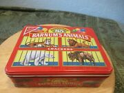 Vintage Anniversary 85 Barnumand039s Animals Tin With 3 Packs Of Animal Crackers Boxe