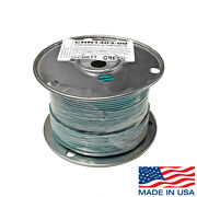 14 Awg Copper Stranded Wire 500' Ft Roll Thhn/thwn 600 Volt Usa Made Ul - Green