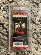 2016 World Series Game 7 Ticket - Psa 8 Mint Chicago Cubs Game 7 Ticket Full