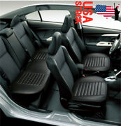 Car Cushion Auto Seat Cover Chair Pad Mat Front And Rear Universal Pu Leather