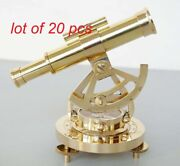 Brass Theodolite Alidade Compass Telescope Instrument Collectible Table Top Item