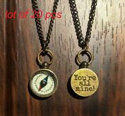 Vintage Style Handmade Brass Compass Necklace Collectible Antique Locket Gift