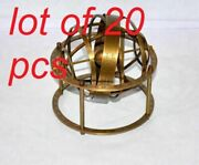 Antique Vintage Style Solid Brass 5 Tabletop Armillary Sphere Astrolabe Globe