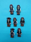 Lego Pirates Of Caribbean Lot Minifigures 7 Of 8 Captain Jack Sparrow Ever Made