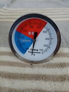 3 Temperature Thermometer Gauge | Barbecue Bbq Grill Smoker Pit Pair Set Of 2