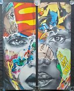 Sandra Chevrier La Cage, Nous Sommes Uns We Are One Diptych 60/195 In Hand