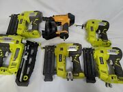6 Ryobi Finish Nailer P320, P325 And Bostitch Rn46-1 Coil Roofing Nailer For Parts
