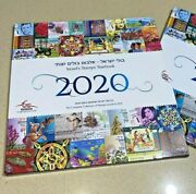 Israeli Stamp Albums With New Stamps Year 2020 New Book W/explanation