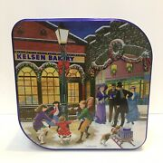 Kelson Empty Danish Butter Cookie Christmas Tin Old Town Square Scene