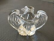Steuben Signed Glass Paper Weight 8496 Eagle 1984 By Designer Loyd Adkins