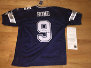 Tony Romo Autographed Authentic Nfl Blue Reebok Jersey Uda Upperdeck With Tags
