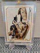 2016 Star Wars Masterwork Sketch Insert Card By Solly Mohamed - B1 Battle Droid