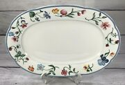 Villeroy And Boch Oval Serving Platter Mariposa 12 5/8 Bone China Germany Spring