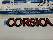 1987 To 1993 Chevy Corsica Red And Black Trunk Or Door Emblem New Gm Oem 10056380